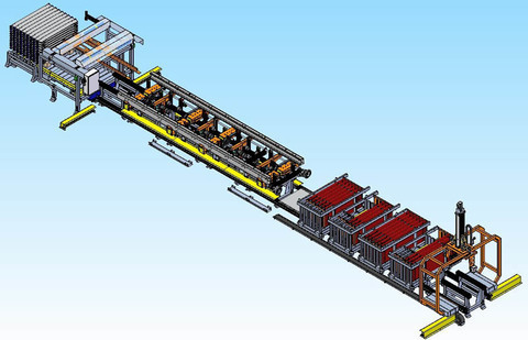 Máquina para el montaje de pasillo plano
