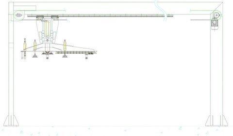 Transferidor aéreo línea de serigrafía antenas