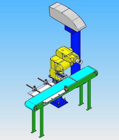 Instalación robotizada para el marcado láser
